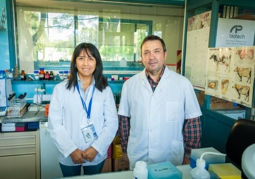 Investigadores del Inst. de Biotecnología y del Inst. de Patobiología y Biotecnología